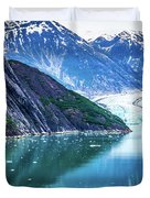 Sawyer Glacier At Tracy Arm Fjord In Alaska Panhandle Duvet Cover