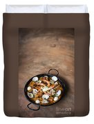 Seafood And Rice Paella Traditional Spanish Food Duvet Cover