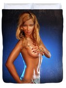 Sexy Young Woman Duvet Cover by Oleksiy Maksymenko
