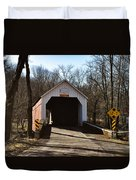 Sheards Mill Covered Bridge - Bucks County Pa Duvet Cover
