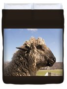 Sheep In Profile Duvet Cover