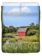 Sinking Red Barn #6 Duvet Cover