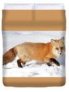 Sneaky Red Fox Duvet Cover