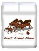 Soft Grand Piano  Duvet Cover