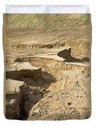 Soil Erosion Duvet Cover
