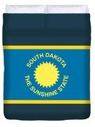 South Dakota Flag Duvet Cover