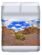 Spherical Panorama From A Canyon Charyn Duvet Cover