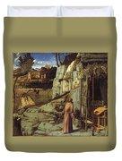 St. Francis In The Desert Duvet Cover