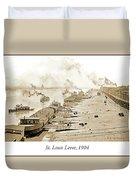 St. Louis Levee, 1904 Duvet Cover