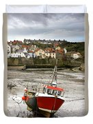 Staithes, North Yorkshire, England Duvet Cover