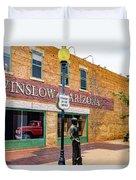 Standing On The Corner - Winslow Arizona Duvet Cover