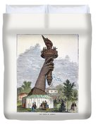 Statue Of Liberty, 1876 Duvet Cover