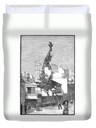 Statue Of Liberty, 1884 Duvet Cover