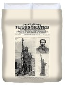 Statue Of Liberty, 1885 Duvet Cover