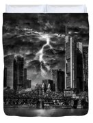 Storm Over Frankfurt Duvet Cover