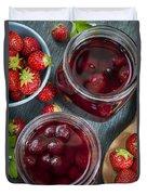 Strawberry Preserve Duvet Cover