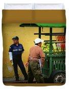 Street Vendor - Antigua Guatemala Duvet Cover