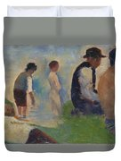 Study For Bathers At Asnieres Duvet Cover