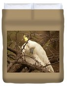 Sulfur Crested Cockatoo Duvet Cover