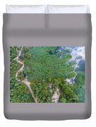 Summer Time Lake And Green Forest, In Poland Lanscape.  Duvet Cover