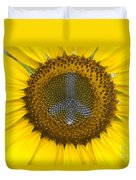 Sunflower Peace Sign Duvet Cover