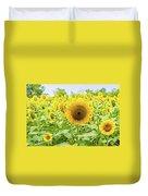 Sunflowers Field Duvet Cover