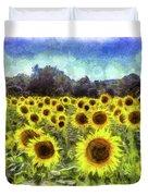 Sunflowers Van Gogh Duvet Cover