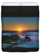 Sunrise And The Sea Duvet Cover