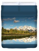 Sunrise In Wyoming Duvet Cover