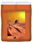 Sunrise Monument Valley Duvet Cover