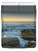 Sunrise On The Rocky Coast Duvet Cover