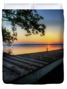 Sunrise Over Cayuga Lake Duvet Cover