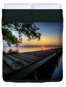 Sunrise Over Cayuga Lake Duvet Cover