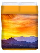 Sunrise Over Colorado Rocky Mountains Duvet Cover