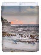 Sunrise Seascape And Headland Duvet Cover