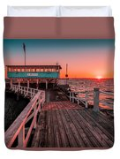 Sunset At Langedrag, Gothenburg Duvet Cover