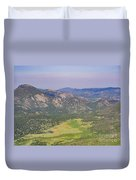 Superb Landscape In Rocky Mountain National Park Duvet Cover