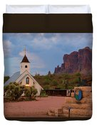 Superstition Mountain State Park Duvet Cover