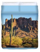 Superstition  Mountains Arizona Duvet Cover