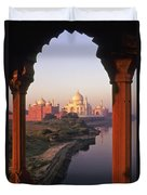 Taj Mahal At Sunrise Duvet Cover