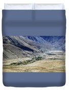 Tangsey Village Landscape Of Leh Ladakh Jammu And Kashmir India Duvet Cover