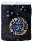 Tartlet With Blueberries Duvet Cover