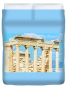 Temple Of Athena Nike In Greece Duvet Cover
