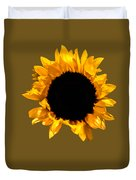 Sunflower Stretching On Brown Duvet Cover