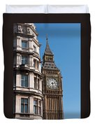 The Clock Tower In London Duvet Cover