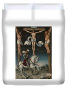 The Crucifixion With The Converted Centurion Duvet Cover