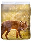 The Fox And The Fairy Dust Duvet Cover