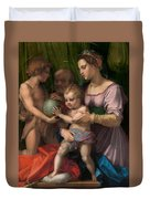 The Holy Family With The Young Saint John The Baptist Duvet Cover