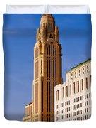 The Leveque Tower Of Columbus Ohio Duvet Cover