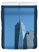 The One World Trade Centre Or Freedom Tower New York City Usa Duvet Cover